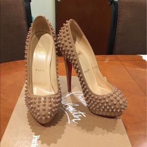 Christian Louboutin Alti Pump 160mm Spiked Nude
